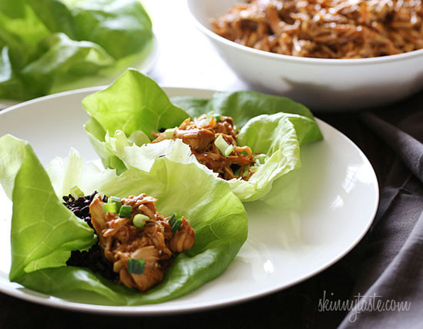 Sesame Honey Chicken Lettuce Wraps 550X428