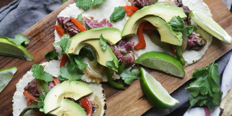 Mojo Skirt Steak Fajitas with Homemade Corn Tortillas