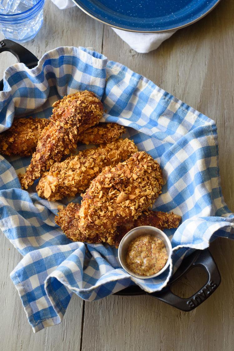 Spicy Cornflake Chicken