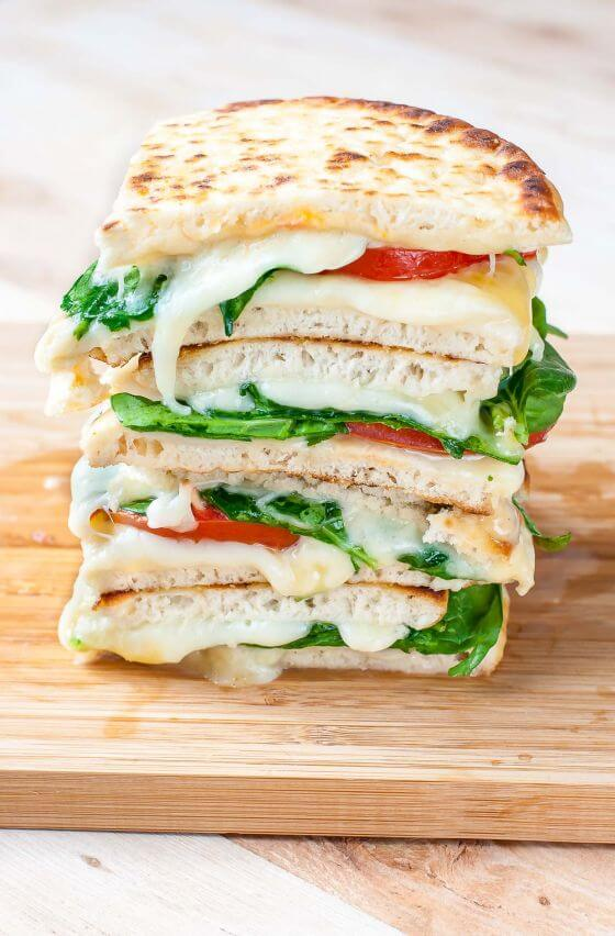 Spinach Tomato Pita Grilled Cheese Sandwiches Recipe Peasandcrayons 0062