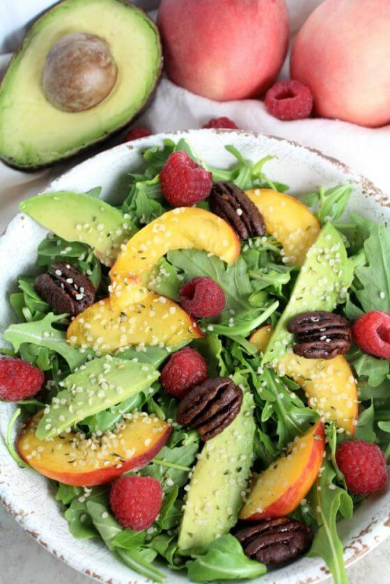 Summer Peach Arugula Salad 1
