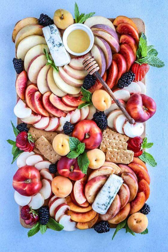Summer Stone Fruit Cheese Platter 1