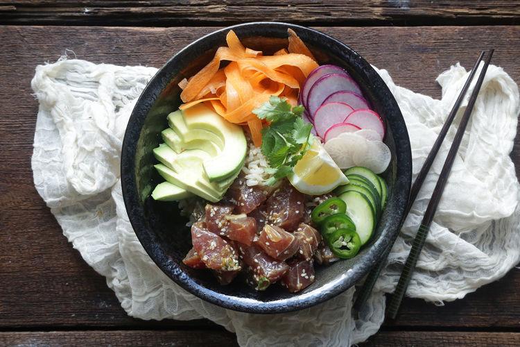 Tuna Poké & Vegetable Bowl