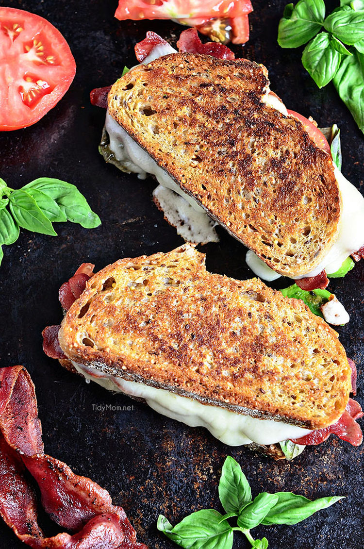 Turkey Bacon Grilled Cheese Avocado