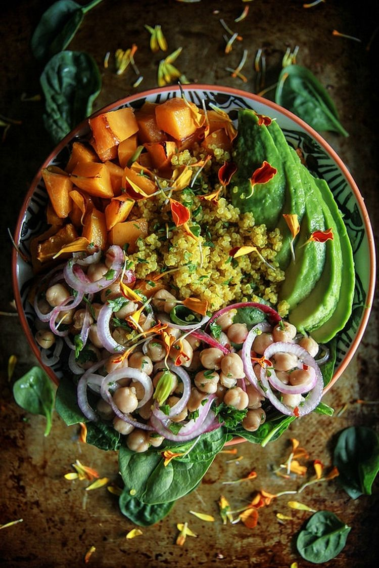Vegan Autumn Quinoa Bowl