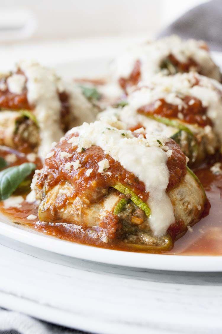 Vegan Zucchini Ravioli Spinach Basil Ricotta 26