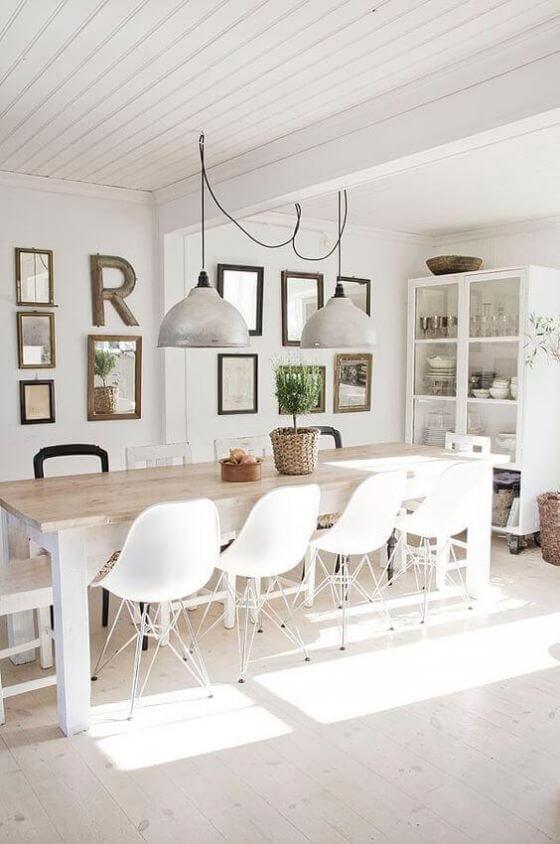 White Scandinavian Dining Room Inspired Home