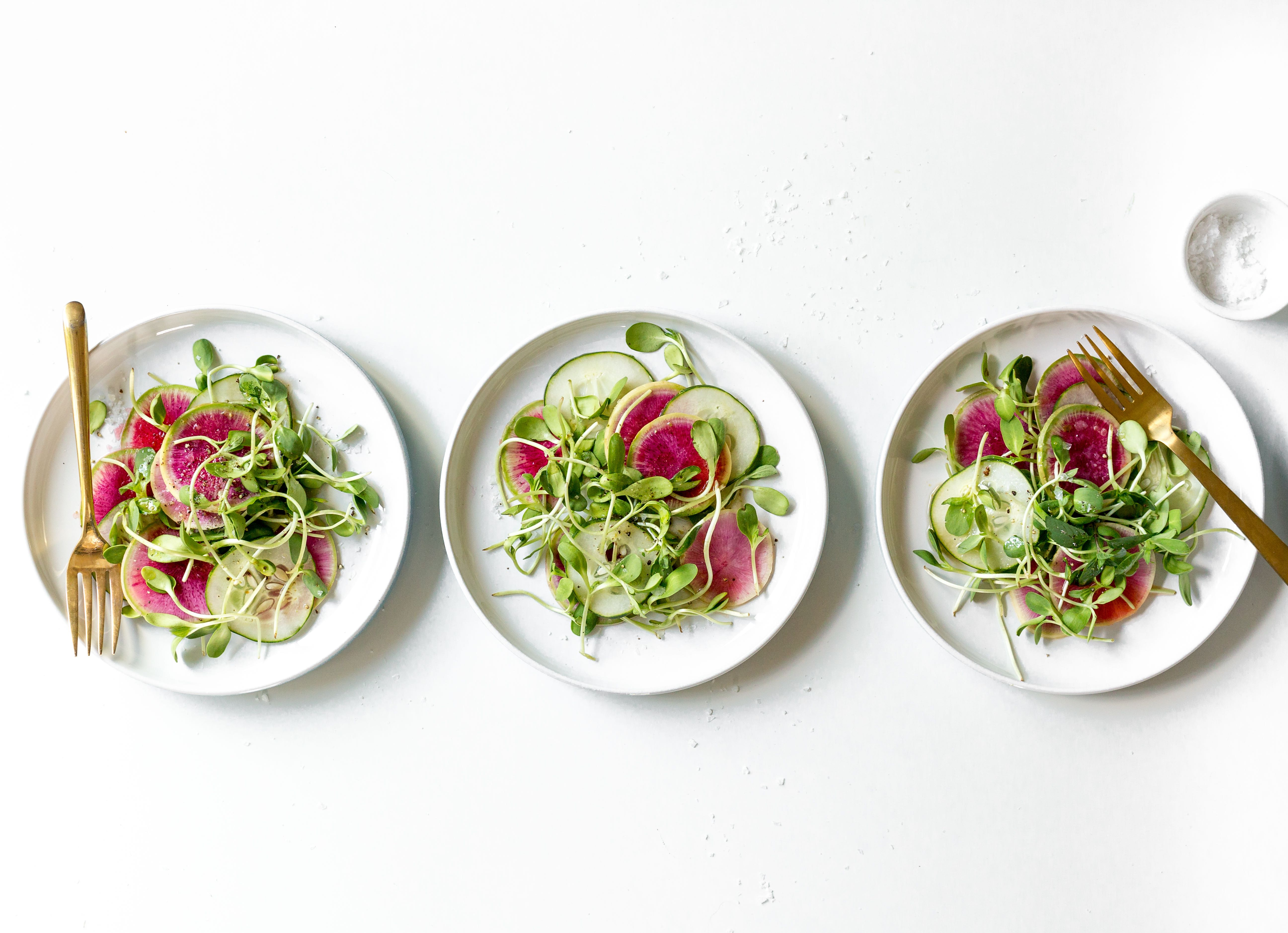 Watermelon Radish And Cucumber Sesame Salad The Inspired Home The Inspired Home