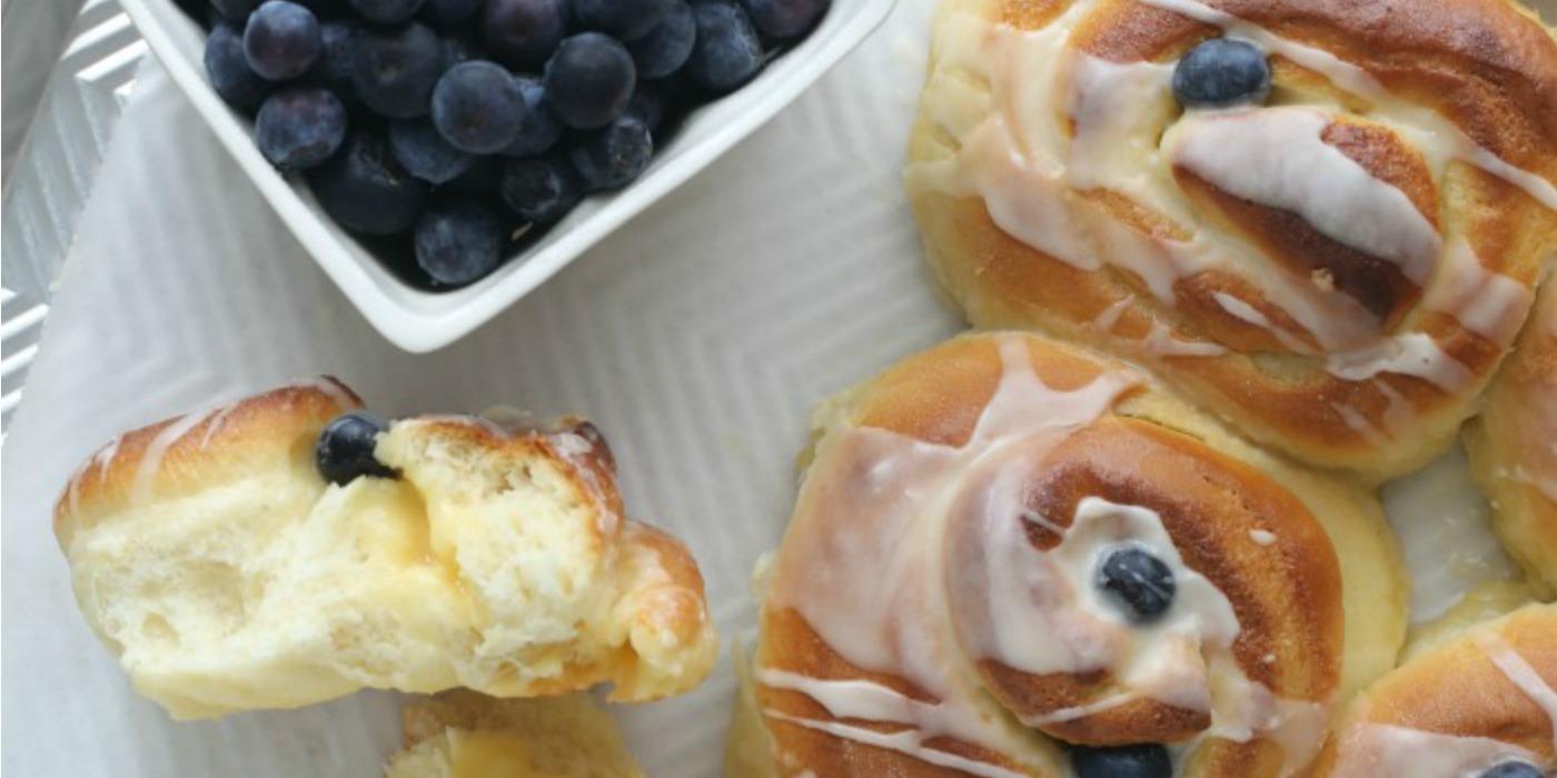 Lemon & Blueberry Rolls | The Inspired Home