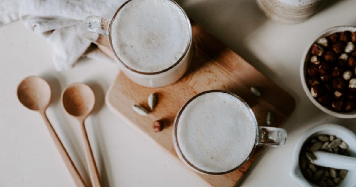 Homemade Hazelnut Milk Chai Lattes