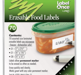 Featured Product Erasable Food Labels