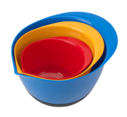 Featured Product 3-Piece Plastic Mixing Bowl Set