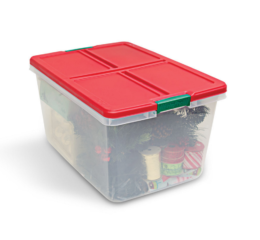 Featured Product 66 Quart Clear Tote with Latching Lid