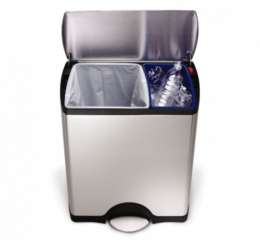 Featured Product 46L Dual-Bucket Trash Can/Recycling Bin