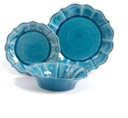 Featured Product Paige 12-Piece Crackle Glaze Dinnerware Set