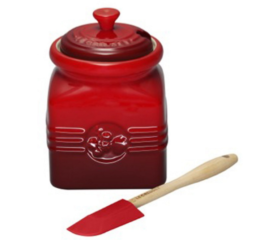 Featured Product Stoneware Berry Jam Jar in Cherry