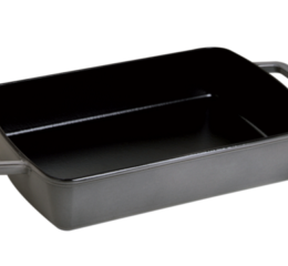 "Featured Product Cast Iron 12""x8"" Roasting Pan in Graphite Grey"