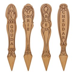 Featured Product Get Real Beechwood Cheese Marker Set