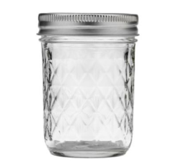 Featured Product Quilted Crystal Half-Pint Glass Mason Jars