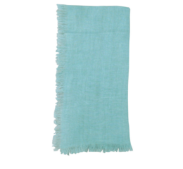 Featured Product Solid Linen Napkin in Aqua