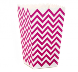 Featured Product Fuschia Chevron Popcorn Boxes