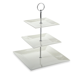Featured Product White Basics Cosmopolitan 3-Tier Cake Stand