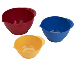 Featured Product 3 Piece Plastic Mixing Bowl Set