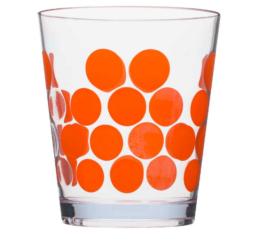 Featured Product Dot Dot Old Fashioned Tumbler in Coral