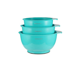 Featured Product Set Of 3 Mixing Bowls in Turquoise