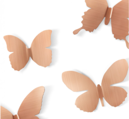 Featured Product Metal Mariposa Wall Display in Copper