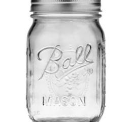 Featured Product Ball® Regular Mouth 16 Oz. Glass Mason Jars