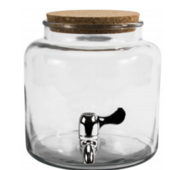 Featured Product Montana Glass Beverage Dispenser with Cork Lid