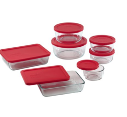 Featured Product Storage Plus 14-pc Set w/ Red Lids
