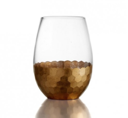 Featured Product Daphne Gold Set of 4 Stemless Glasses