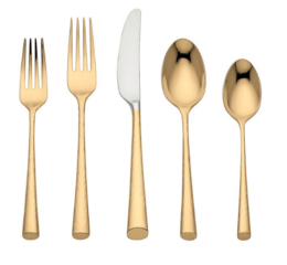 Featured Product Marchesa Imperial Caviar Gold 5-piece Flatware Place Setting
