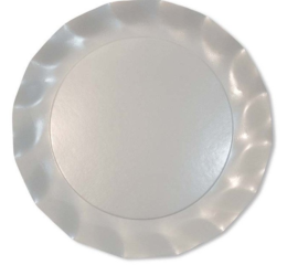 Featured Product Pearly White Petalo Charger Plates