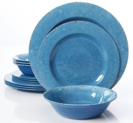 Featured Product Studio California by Laurie Gates 12 Piece Mauna Crackle Dinnerware Set