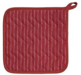 Featured Product Potholders in Pinstripe Chili Red