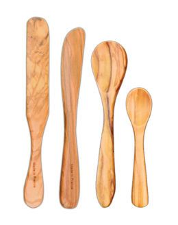 Featured Product 4-Pc Petite Gastronome Olive Wood Condiment Set