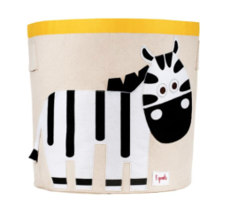 Featured Product Zebra Canvas Toy Storage Bin