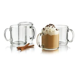 Featured Product 4-pc Robusta Clear Glass Mug