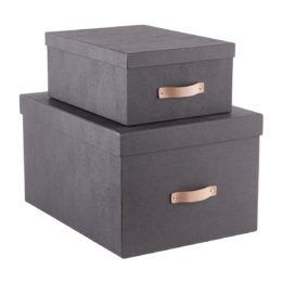 Featured Product Black Woodgrain Storage Boxes