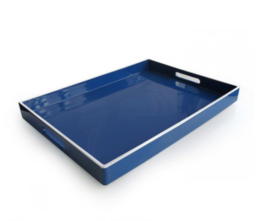 Featured Product Olive Blue Rectangle Serving Tray