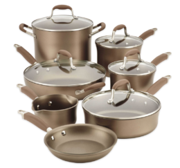 Featured Product Advanced Umber Nonstick Hard Anodized 12-Piece Cookware Set