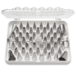 Featured Product 55-Piece Stainless Steel Pastry Tube Decorating Set