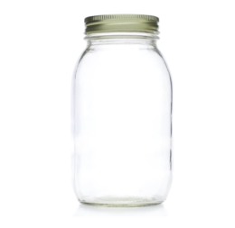 Featured Product Wide Mouth Quart 32 oz. Glass Mason Jars