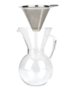 Featured Product Pourover Drip Coffee with Glass Carafe