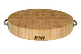 Featured Product Round Cutting Board with Stainless Steel Handles