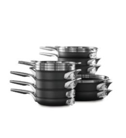 Featured Product Premier™ Space Saving Hard Anodized Nonstick 10-Piece Cookware Set