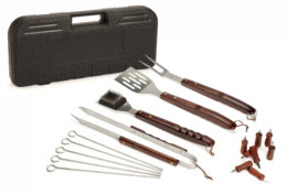 Featured Product 13 Piece Wooden Handle Grill Tool Set